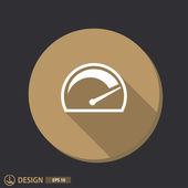 Pictograph of speedometer icon — Stock Vector