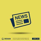 Newspaper  media icon — Stock Vector