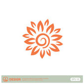 Pictograph of abstract flower — Stock Vector