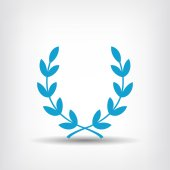 Pictograph of laurel wreath — Stock Vector