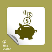 Pictograph of moneybox   icon — Stockvektor