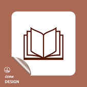 Pictograph of book icon — 图库矢量图片