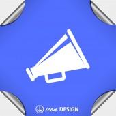 Pictograph of megaphone speaker — Stock Vector