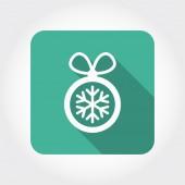 Pittogramma della sfera di Natale — Vettoriale Stock
