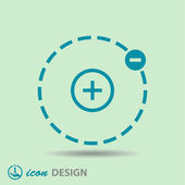 Pictograph of atom icon — Stock Vector