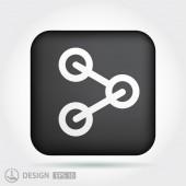 Pictograma de ícone de compartilhamento — Vetor de Stock