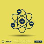 Pittogramma dell'icona dell'atomo — Vettoriale Stock
