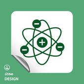 Pictograph of atom icon — Stockvector