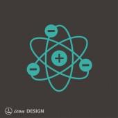 Atom アイコンの絵文字 — ストックベクタ