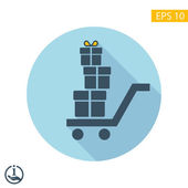 Pictograph of gifts icon — ストックベクタ
