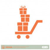 Pictograph of gifts icon — Stock Vector