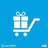 Pictograph of gift icon — Stockvector