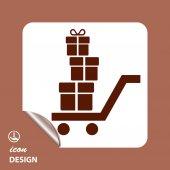 Ikony Symbols prezenty ikony — Wektor stockowy