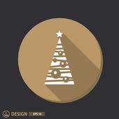 Pictograph of christmas tree — Stockvektor