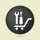 Pictograph of tools on cart — ストックベクタ