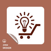 Pictograph of light bulb icon — Stock Vector