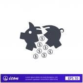 Pictograph of moneybox icon — Stockvector