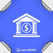 Pictograph of bank icon — Stock Vector
