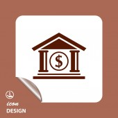 Pictograph of bank icon — Stockvektor