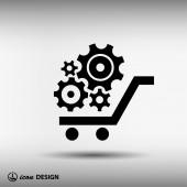 Pictograph of gear icon — 图库矢量图片