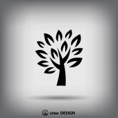 Pictograph of tree icon — Stock Vector
