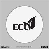 Pictograph van eco-pictogram — Stockvector