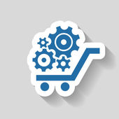 Pictograph of gear icon — Stock Vector