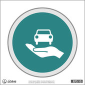 Pictograph av bil-ikonen — Stockvektor