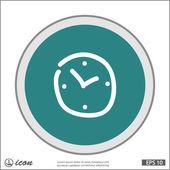 時計のアイコンの絵文字 — ストックベクタ
