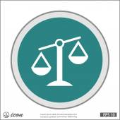 Justice scales icon — Stock Vector
