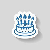 Ikony Symbols ciasto ikony — Wektor stockowy