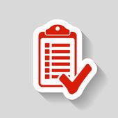 Pictograph of checklist icon — Stock Vector