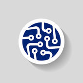 Circuit board icon — Stock Vector
