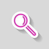 Pictograph of search icon — Stock Vector