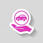 Ikona ikony auto — Stock vektor