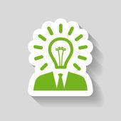 Bulb concept icon — Stock Vector