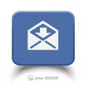 Пиктограмму значок Почта — Cтоковый вектор