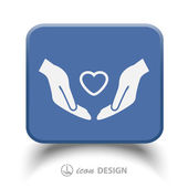 Pictograph of heart in hand — Stock Vector