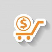 Пиктограмму деньги значка — Cтоковый вектор