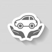 車のアイコンの絵文字 — ストックベクタ
