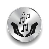 Pictograph of music icon — Stock Vector