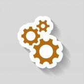 Ikony Symbols ikony koła zębatego — Wektor stockowy