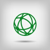 Pictograma de icono de globo — Vector de stock