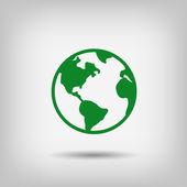 象形文的地球图标 — 图库矢量图片