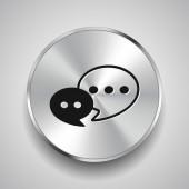 Icona messaggio o chat — Vettoriale Stock