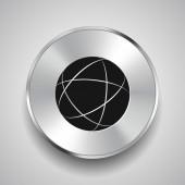 Pittogramma dell'icona del globo — Vettoriale Stock