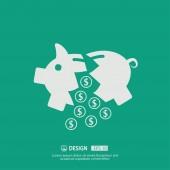 Pictograph van moneybox pictogram — Stockvector