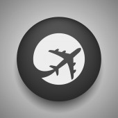 Pictograph of airplane icon — Stock Vector