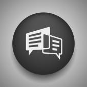 Pictogramme de message ou de chat — Vecteur