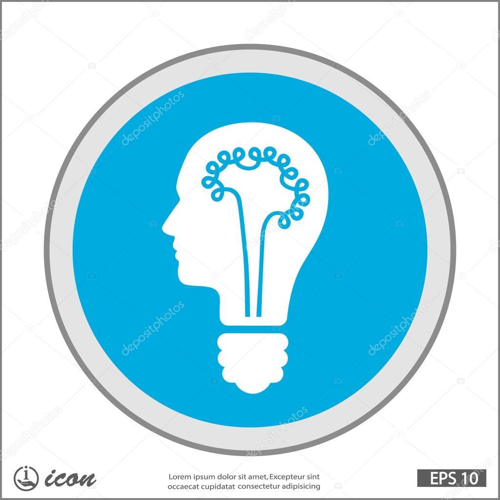 象形文的灯泡概念图标 — 图库矢量图片#87928914
